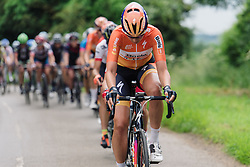 Nikki Harris (Boels Dolmans) at Aviva Women's Tour 2016 - Stage 5. A 113.2 km road race from Northampton to Kettering, UK on June 19th 2016.