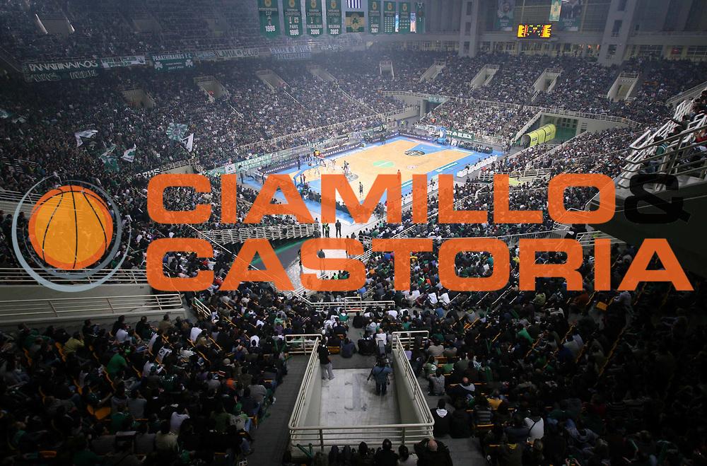 DESCRIZIONE : Atene Eurolega 2008-09 Quarti di Finale Gara 1 Panathinaikos Montepaschi Siena<br /> GIOCATORE : Panoramica Tifo Tifosi Fan Supporter<br /> SQUADRA : Pnathinaikos<br /> EVENTO : Eurolega 2008-2009<br /> GARA : Panathinaikos Montepaschi Siena<br /> DATA : 24/03/2009<br /> CATEGORIA :<br /> SPORT : Pallacanestro<br /> AUTORE : Agenzia Ciamillo-Castoria/Action Images.gr<br /> Galleria : Eurolega 2008-2009<br /> Fotonotizia : Siena Eurolega 2008-09 Panathinaikos Montepaschi Siena<br /> Predefinita :