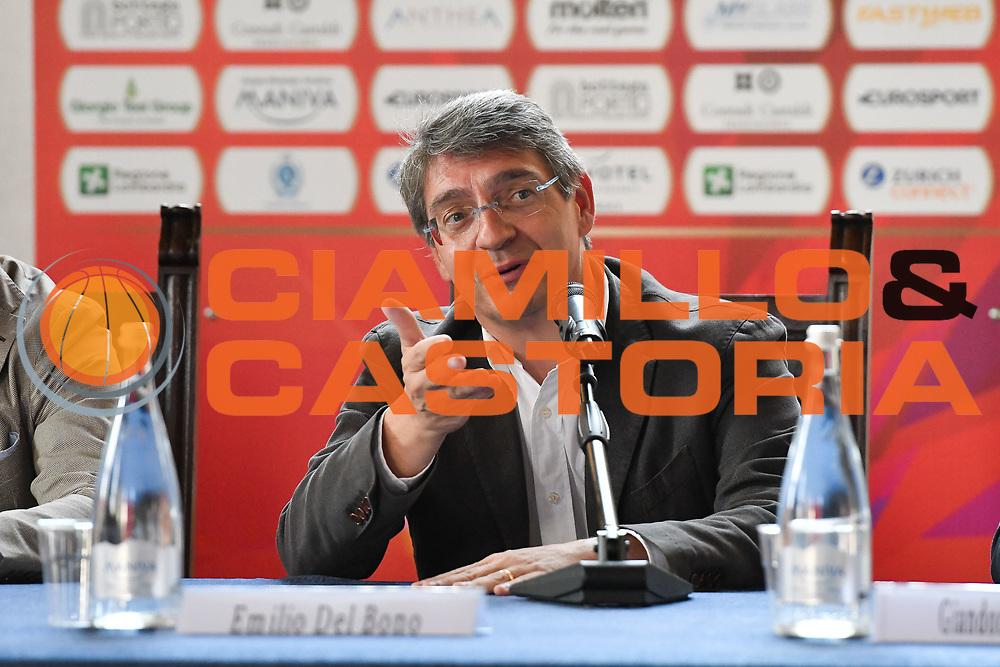 del bono<br /> presentazioe supercoppa 2018<br /> Legabasket Serie A 2018/19<br /> Brescia, 24/09/2018<br /> Ciamillo-Castoria