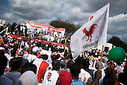Convention People's Party (CPP) supporters gather during a rally in Accra, Ghana on Sunday September 21, 2008.