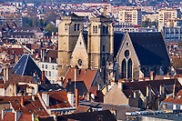 France, Côte-d'Or (21), Paysage culturel des climats de Bourgogne classés Patrimoine Mondial de l'UNESCO, Dijon, le théâtre de Bourgogne à l'interieur de l'ancienne église St-Jean // France, Burgundy, Côte-d'Or, Dijon, Unesco world heritage site, St Jean church, Burgundy theatre