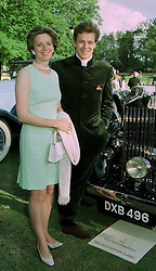 The HON.JAMES & MRS OGILVY, he is the son of Princess Alexandra, at a reception in London on 7th June 1997.LZA 19
