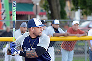 Lajas player Eric Long waits for a pitch against Real Ponce during a semifinal playoff softball game in a league consisting of teams named after Puerto Rican cities Thursday, September 07, 2017 in Bristol, Pennsylvania. The teams in the league are named after various towns and areas in Puerto Rico, including Lajas, Real Ponce, Adjuntas and Comerio. (Photo by William Thomas Cain)