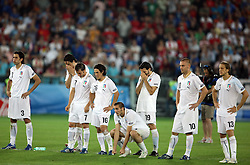 Italian team during penalty shots at the UEFA EURO 2008 Quarter-Final soccer match between Spain and Italy at Ernst-Happel Stadium, on June 22,2008, in Wien, Austria.  (Photo by Vid Ponikvar / Sportal Images)