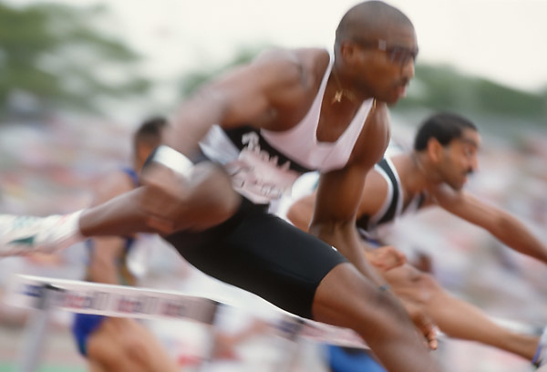 TRACK AND FIELD:  Roger Kingdom, date unknown (1992?).  Photo by David Madison www.davidmadison.com.  All rights reserved.