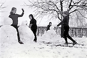 children playing in the snow 1960s