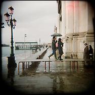 Italie, Venise, Dorsoduro..Aqua Alta.© Jean-Patrick Di Silvestro