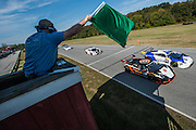 October 3-5, 2013. Lamborghini Super Trofeo - Virginia International Raceway. Green flag for race 2 at VIR.