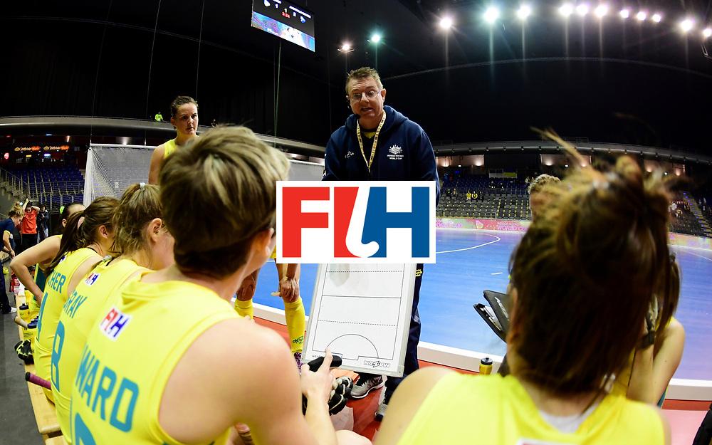 BERLIN - Indoor Hockey World Cup<br /> Women: Ukraine - Australia<br /> foto: FENTON Stewart.<br /> WORLDSPORTPICS COPYRIGHT FRANK UIJLENBROEK