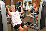 Clients work out at the Canoa Ranch fitness facility of Green Valley Recreation, Inc., Green Valley, Arizona, USA.