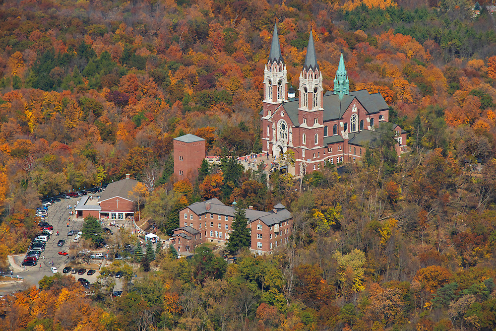 Basilica of the National Shrine of Mary Help of Christians at Holy Hill is located in the town of Erin, near Hubertus, Wisconsin, in the Roman Catholic Archdiocese of Milwaukee.  Holy Hill was built in 1930 and  has about 300,000 visitors per year.