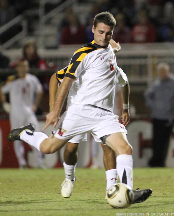 Oct 23, 2010; College Park, MD, USA; Maryland Terrapins midfielder Matt Kassel (8) against the Wake Forest Demon Deacons. Mandatory Credit: Brian Schneider-www.ebrianschneider.com