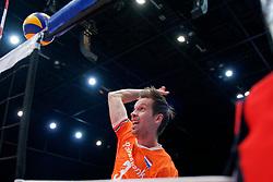 13-09-2019 NED: EC Volleyball 2019 Netherlands - Montenegro, Rotterdam<br /> First round group D Netherlands win 3-0 / Maarten van Garderen #3 of Netherlands