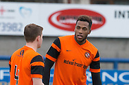 Dundee United trialist Felitciano Zschusschen (right) - Dundee v Dundee United in the SPFL Development League at Links Park, Montrose. Photo: David Young<br /> <br />  - &copy; David Young - www.davidyoungphoto.co.uk - email: davidyoungphoto@gmail.com