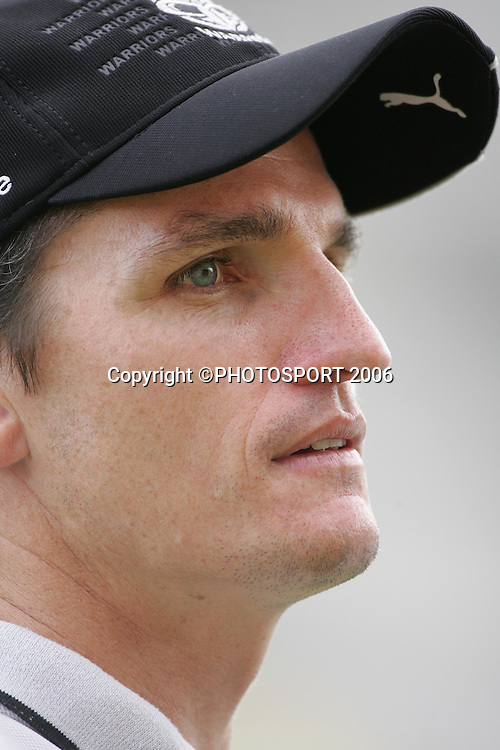 Warriors coach Ivan Cleary during the Vodafone Warriors training session held at Ericsson Stadium, Auckland, on Wednesday 5 April, 2006. Photo: Andrew Cornaga/PHOTOSPORT<br /><br /><br />050406