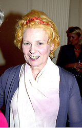 Top British fashion designer VIVIENNE WESTWOOD at<br />  a party in London on 13th June 2000.OFC 59<br /> © Desmond O'Neill Features:- 020 8971 9600<br />    10 Victoria Mews, London.  SW18 3PY <br /> www.donfeatures.com   photos@donfeatures.com<br /> MINIMUM REPRODUCTION FEE AS AGREED.<br /> PHOTOGRAPH BY DOMINIC O'NEILL