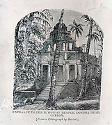 "From ""Souvenirs of Ceylon"" 1868 published by Ferguson. Dondra Head Buddhist Temple."