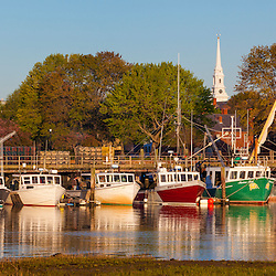 Fishing boats docked at the Commercial Fishing Pier in Portsmouth, New Hampshire.