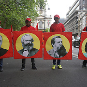The annual May Day march and rally on April 30, 2017 in London. Thousands people joined in the London May Day March and Rally in Trafalgar square. Since 1890 May Day has been celebrated throughout the world as a day of working class solidarity. In many countries the events take place on May 1, but in Newcastle the march and rally has for many years been held on the Saturday of the early May bank holiday weekend. by See Li