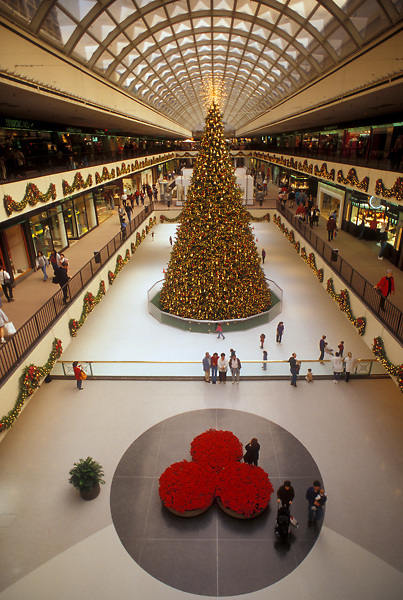Stock photo of Christmas at the Galleria ice skating rink