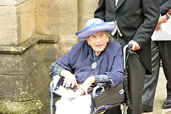 COUNTESS MOUNTBATTEN OF BURMA at the wedding of the Hon.Alexandra Knatchbull to Thomas Hooper held at Romsey Abbey, Romsey, Hampshire on 25th June 2016