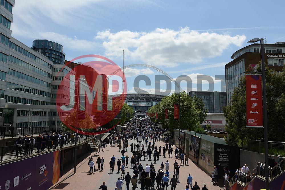 Wembley Way - Photo mandatory by-line: Dougie Allward/JMP - Mobile: 07966 386802 - 17/05/2015 - SPORT - football - London - Wembley Stadium - Bristol Rovers v Grimsby Town - Vanarama Conference Football