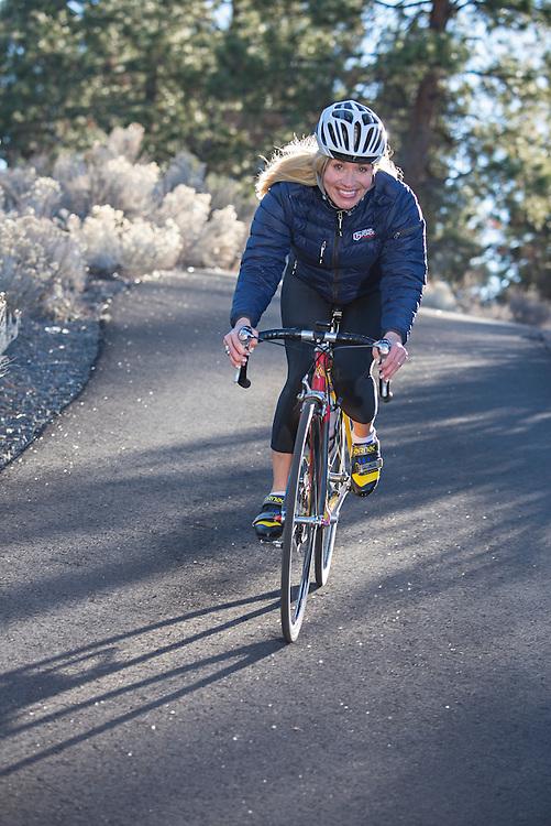 Marianne Berglund, Swedish World Campion, road bike racer,Bend, Oregon,USA,Model release 0390