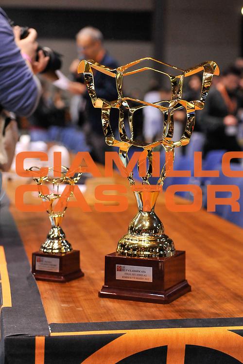 DESCRIZIONE : Final Six Coppa Italia A2 IG Cup RNB Rimini 2015 Finale FMC Ferentino - Tezenis Scaligera Verona<br /> GIOCATORE : Coppa Italia<br /> CATEGORIA : Coppa Premio Award<br /> EVENTO : Final Six Coppa Italia A2 IG Cup RNB Rimini 2015<br /> GARA : FMC Ferentino - Tezenis Scaligera Verona<br /> DATA : 08/03/2015<br /> SPORT : Pallacanestro <br /> AUTORE : Agenzia Ciamillo-Castoria/L.Canu