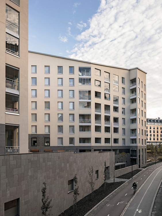 Kampin Helmi apartments in Helsinki, Finland designed by Kirsti Siven & Asko Takala Architects