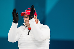 March 17, 2018 - Pyeongchang, SOUTH KOREA - 180317 Ole Fredrik Syversen of Norway after the wheelchair curling final match between China and Norway during day eight of the 2018 Winter Paralympics on March 17, 2018 in Pyeongchang..Photo: Vegard Wivestad GrÂ¿tt / BILDBYRN / kod VG / 170135 (Credit Image: © Vegard Wivestad Gr¯Tt/Bildbyran via ZUMA Press)