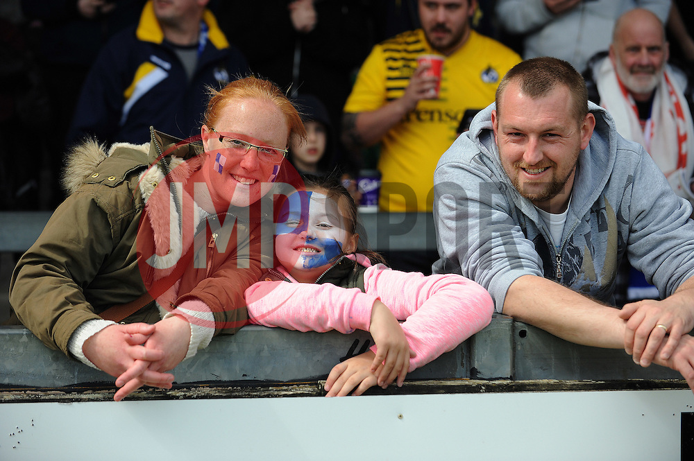 Bristol Rovers fans - Mandatory by-line: Neil Brookman/JMP - 23/04/2016 - FOOTBALL - Memorial Stadium - Bristol, England - Bristol Rovers v Exeter City - Sky Bet League Two