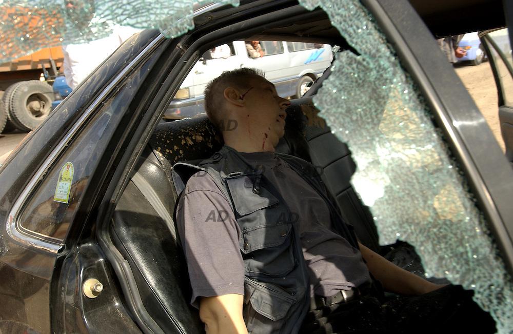 Ambush to western journalist. One algerian journalist and one polish journalist killed and another polish injuried...The ambush was after Mahmudya and Hella.