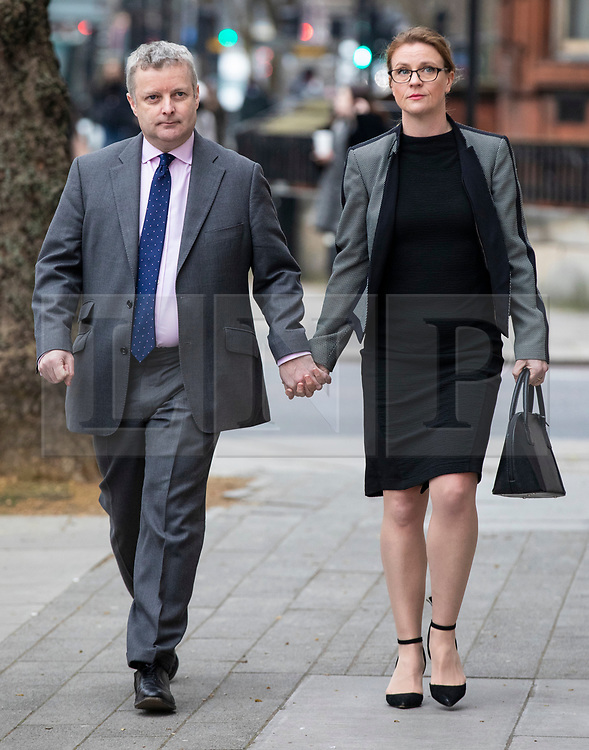 © Licensed to London News Pictures. 22/03/2019. London, UK. Conservative MP Christopher Davies (L) arrives at Westminster Magistrates Court where he is accused of two offences of forgery and one of providing false or misleading information for expenses claims. Photo credit: Rob Pinney/LNP