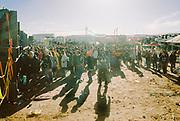 Crowd of ravers at Vina Tek, Toledo, Spain 2017
