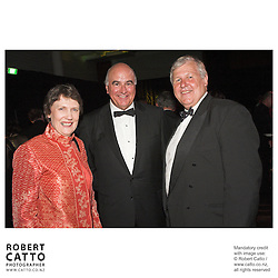Prime Minister Helen Clark, David Gascoigne and producer Don Reynolds celebrate at the premiere of the film River Queen in Wanganui, New Zealand.<br />