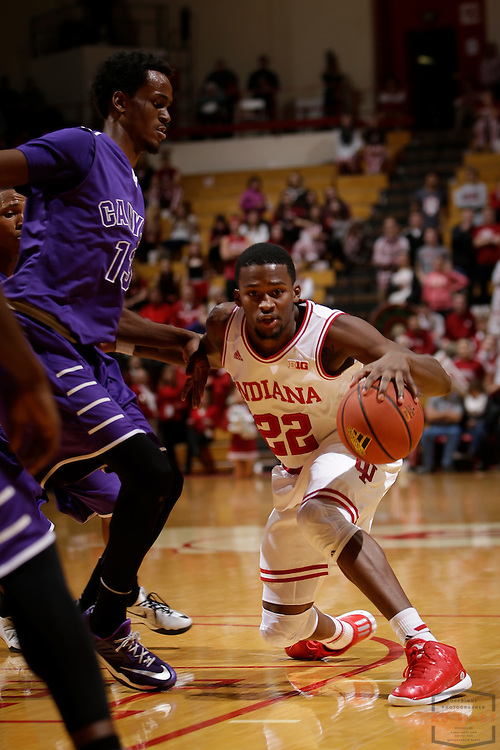 Indiana guard Stanford Robinson (22) as Grand Canyon played Indiana in an NCAA college basketball game in Bloomington, Ind., Saturday, Dec. 13, 2014. (AJ Mast/Photo)