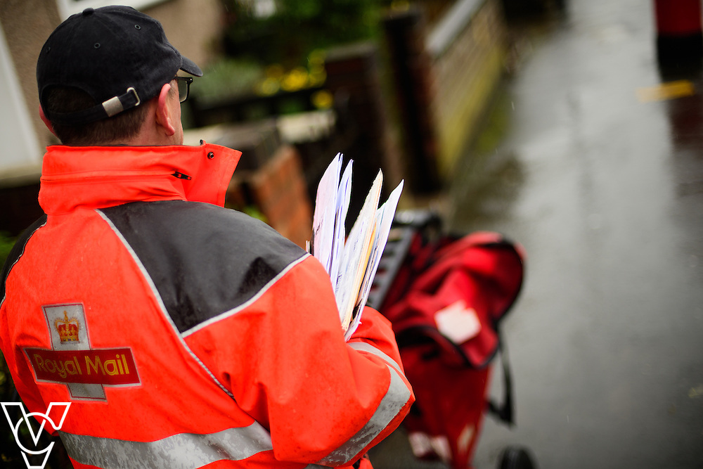 Generic stock images of a Royal Mail postman on a delivery round in Rugby, Warwickshire.<br /> <br /> Picture: Chris Vaughan Photography<br /> Date: March 3, 2017