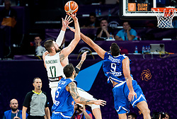 Jonas Valanciunas of Lithuania vs Ioannis Bourousis of Greece during basketball match between National Teams of Lithuania and Greece at Day 10 in Round of 16 of the FIBA EuroBasket 2017 at Sinan Erdem Dome in Istanbul, Turkey on September 9, 2017. Photo by Vid Ponikvar / Sportida