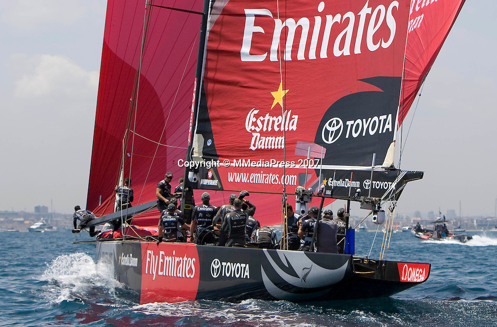 Luna Rossa Challenge vs Emirates Team New Zealand (won the race and the Louis Vuitton Cup)