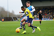 Oxford United striker Rob Hall (19) battles for possession during the EFL Sky Bet League 1 match between Oxford United and Walsall at the Kassam Stadium, Oxford, England on 31 December 2016. Photo by Dennis Goodwin.