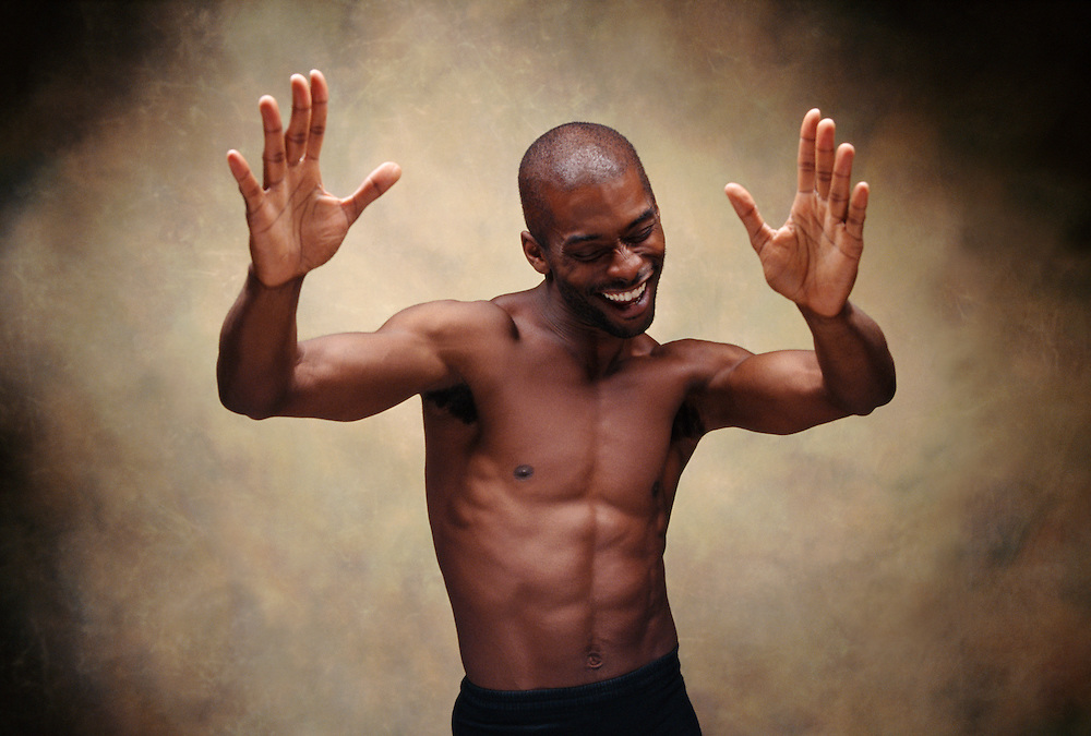 "Studio portrait session with Craig Williams, a dancer, choreographer, educator, and best of friends. I call this one ""Joy"". That's what I told him to project in this series of portraits we made."