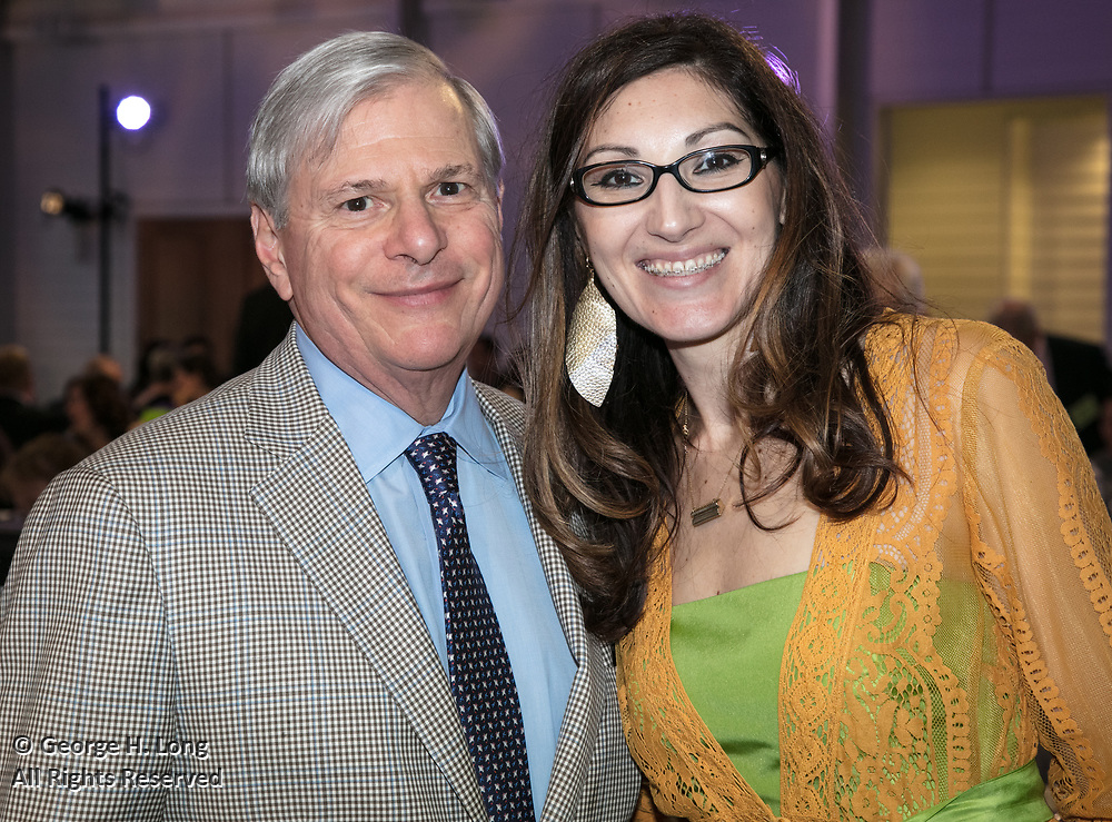 David Kerstein and Miranda Restovic at the Louisiana Endowment for the Humanities Bright Lights Awards Dinner at Popp Fountain in City Park of New Orleans on May 10, 2018
