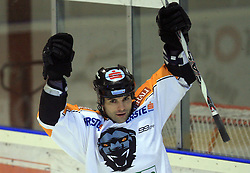 Ion Anthony at Erste Bank Eishockey Liga (EBEL) 2008/2009 match between HK Acroni Jesenice and Eishockeyclub Graz 99ers, on January 9, 2009, in Dvorana Podmezaklja, Jesenice, Slovenia. (Photo by Vid Ponikvar / SportIda).