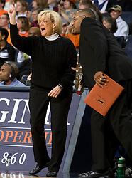 Virginia head coach Debbie Ryan   ..The Virginia Cavaliers women's basketball team faced the Richmond Spiders at the John Paul Jones Arena in Charlottesville, VA on November 18, 2007.