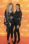 2019, April 15. Pathe ArenA, Amsterdam, the Netherlands. Fabiola Volkers and Dorien Rose at the premiere of Game of Thrones season 8.