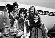 Muriel Day departs for Eurovision, Madrid. Her song, 'The Wages of Love' came seventh in a year when there were four winners: Spain, France, The Netherlands and the UK, with Lulu's 'Boom Bang-a-Bang'. .24.03.1969
