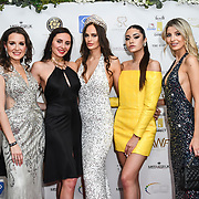 Julia Titova, Roksana Slyahtitch, Julia Sinitsina and guests attend the Grand Final MISS USSR UK 2019 at Hilton hotel London on 27 April 2019, London, UK.