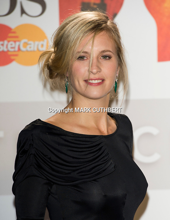 Alison Balsom arriving at the 2012 Classic Brit Awards at the Royal Albert Hall in London.