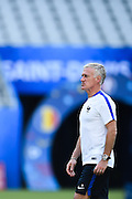 PARIS, FRANCE - JUNE 09: (CHINA OUT) <br /> <br /> Didier Deschamps of France attends a training session on the eve of the beginning of the Euro 2016 European football championships football match against Romania at Stade de France stadium on June 9, 2016 in Saint-Denis near Paris, France<br /> ©Exclusivepix Media