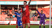 Sonny Bradley screams for the decision during the Sky Bet League 2 match between Crawley Town and Notts County at the Checkatrade.com Stadium, Crawley, England on 16 January 2016. Photo by Michael Hulf.